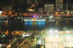 开罗夜看法  免版税图库摄影