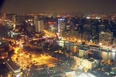 开罗夜看法  免版税库存照片