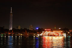 开罗夜 免版税图库摄影