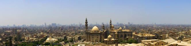 开罗市和一个大清真寺 图库摄影