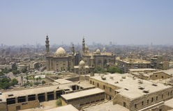 开罗市和一个大清真寺 库存图片