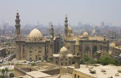 开罗市和一个大清真寺 免版税库存图片