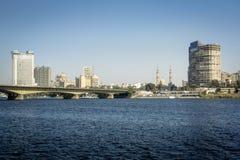 开罗市地平线 免版税库存图片