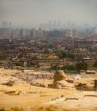 开罗市查找在狮身人面象上 库存照片