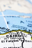 开罗接近的埃及映射 免版税库存照片