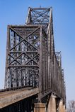 开罗桥梁-俄亥俄河、肯塔基&开罗,伊利诺伊 库存图片