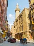 开罗狭窄的街道  库存图片