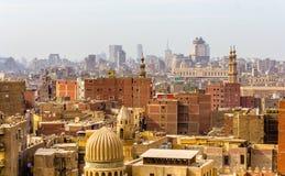 开罗的市中心看法  免版税库存图片