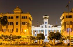 开罗省大厦在晚上 免版税库存图片