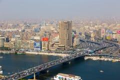 开罗看法从开罗塔的 库存照片