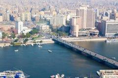 开罗看法从开罗塔的 图库摄影