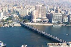 开罗看法从开罗塔的 库存图片