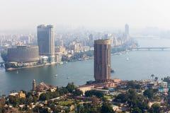 开罗看法从开罗塔的 免版税库存照片
