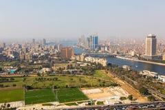 开罗看法从塔-埃及的 库存照片