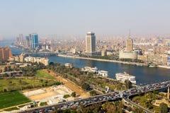 开罗看法从塔-埃及的 免版税库存照片