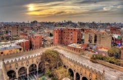 开罗看法从贵族AlMaridani清真寺-埃及屋顶的  图库摄影