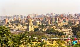 开罗看法从艾资哈尔公园的 库存照片