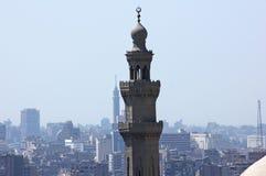 开罗苏丹哈桑清真寺塔和尖塔  库存图片