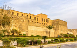 开罗萨拉丁城堡的墙壁  免版税图库摄影