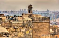 开罗萨拉丁城堡的墙壁  免版税库存图片