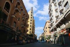 开罗街 库存图片