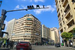 开罗街 库存照片