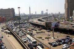 开罗跨线桥 免版税库存图片