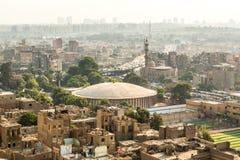 开罗鸟瞰图  免版税库存图片