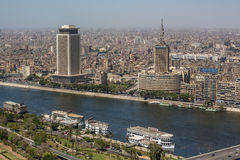 开罗鸟瞰图  库存图片