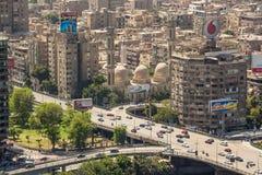 开罗鸟瞰图  库存照片