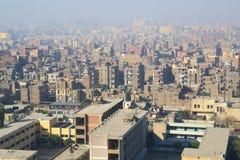 开罗鸟瞰图  图库摄影