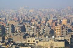 开罗鸟瞰图  免版税库存照片