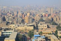 开罗鸟瞰图  免版税图库摄影