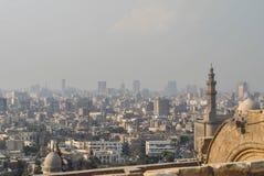开罗,埃及全景从城堡的 免版税库存照片