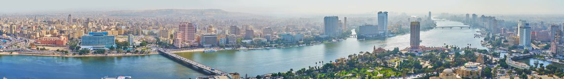 开罗,埃及宽全景  免版税库存照片