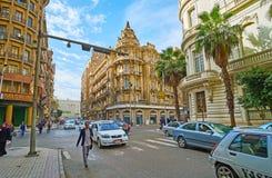开罗,埃及欧洲街道  库存照片