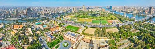 开罗,埃及空中全景  库存照片