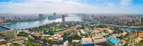 开罗,埃及鸟瞰图  库存照片
