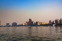 开罗,埃及- 2010年3月:从尼罗的看法 免版税图库摄影