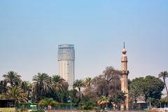 开罗,埃及- 2010年3月:从尼罗的看法 库存照片