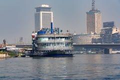 开罗,埃及- 2010年3月:从尼罗的看法 免版税库存照片