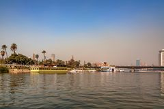 开罗,埃及- 2010年3月:从尼罗的看法 图库摄影