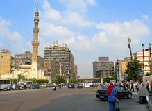 开罗,埃及- 2008年11月9日:开罗市中心。 库存照片