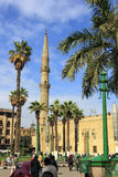 开罗,埃及- 2014年12月13日:清真寺Al侯赛因 库存图片