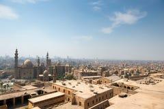 开罗贫民窟看法  库存照片