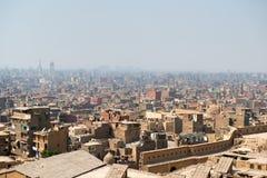 开罗贫民窟看法  免版税库存照片