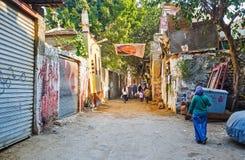 开罗贫民窟  库存照片