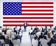 开美国的商人会议 免版税库存图片