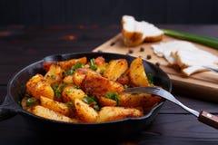 开胃乡下自创饭食 可口烤potatoe 库存照片