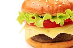 开胃乳酪汉堡 免版税库存照片